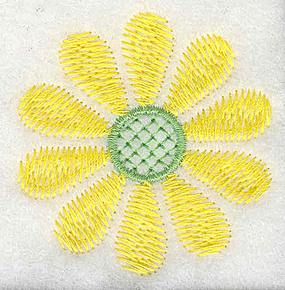 Embroidery Design: Yellow flower 2.18w X 2.25h