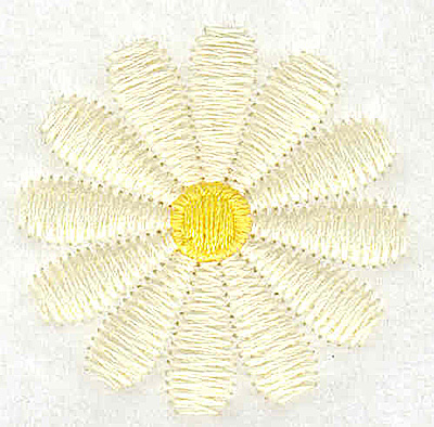 Embroidery Design: Daisy small 1.48w X 1.48h