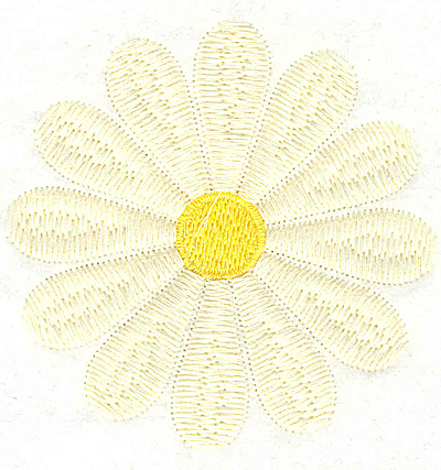 Embroidery Design: Daisy large 3.06w X 3.06h