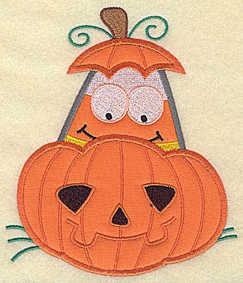 Embroidery Design: Candy Corn applique in pumpkin small 5.75w X 4.88h