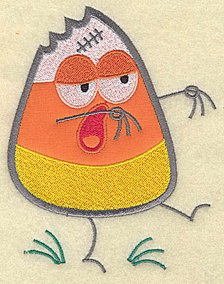 Embroidery Design: Candy Corn applique ghoul large 5.75w X 7.38h