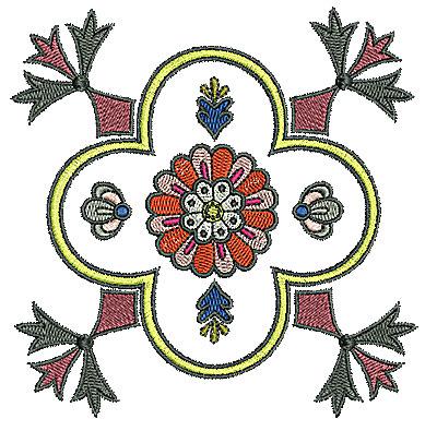 Embroidery Design: Tudor design 1 4.96w X 4.99h