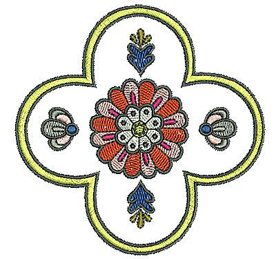 Embroidery Design: Tudor design 2 4.08w X 4.06h