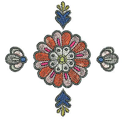 Embroidery Design: Tudor design 3 3.20w X 3.24h