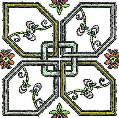 Embroidery Design: Tudor design 5 3.21w X 3.22h