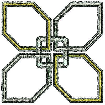 Embroidery Design: Tudor design 6 2.21w X 3.22h