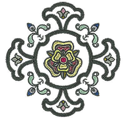 Embroidery Design: Tudor design 7 4.96w X 4.96h