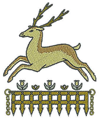 Embroidery Design: Tudor deer design 4.96w X 6.00h