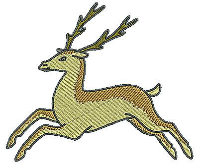 Embroidery Design: Tudor deer  4.96w X 4.24h