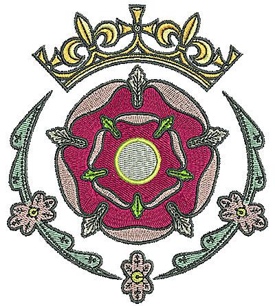 Embroidery Design: Tudor flower design 11 4.72w X 5.40h