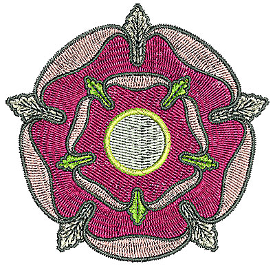 Embroidery Design: Tudor flower design 12 3.32w X 3.25h