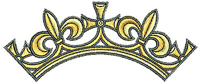 Embroidery Design: Tudor crown 3.82w X 1.58h