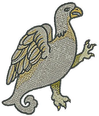 Embroidery Design: Tudor bird 3.74w X 4.35h