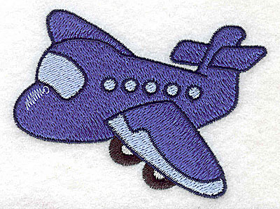 Embroidery Design: Passenger airplane small 3.56w X 2.68h