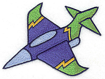 Embroidery Design: Military jet large 4.70w X 3.52h