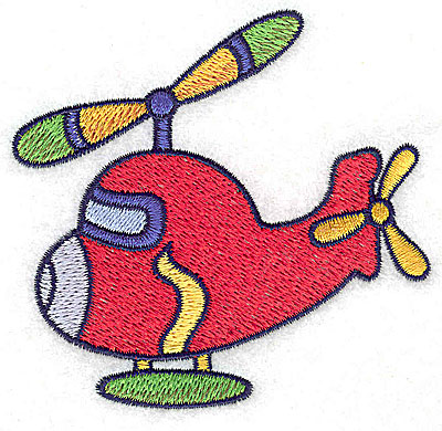 Embroidery Design: Helicopter small 3.51w X 3.33h