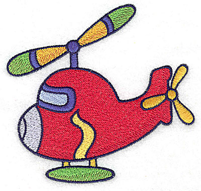 Embroidery Design: Helicopter large 4.57w X 4.32h