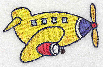 Embroidery Design: Airplane small 3.83w X 2.39h