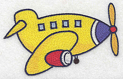 Embroidery Design: Airplane large 4.94w X 3.09h