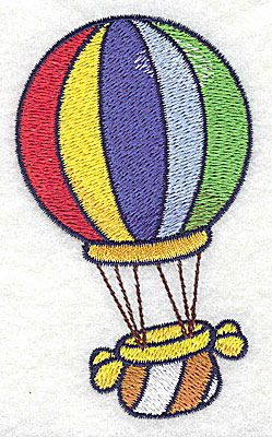 Embroidery Design: Hot air balloon small 2.27w X 2.82h