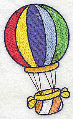 Embroidery Design: Hot air balloon large 2.95w X 4.97h
