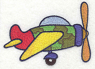 Embroidery Design: War plane small 3.54w X 2.64h
