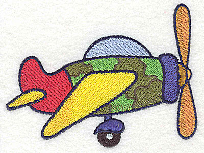 Embroidery Design: War plane large 4.60w X 3.43h