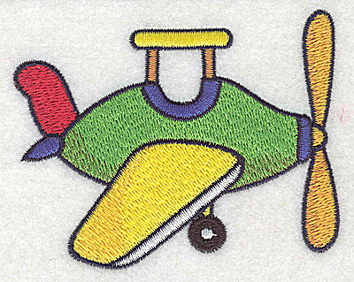Embroidery Design: Toy airplane small 3.61w X 2.87h