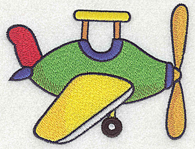 Embroidery Design: Toy airplane large 4.69w X 3.73h