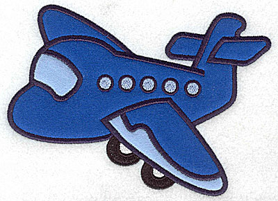 Embroidery Design: Passenger airplane three appliques 6.69w X 4.96h
