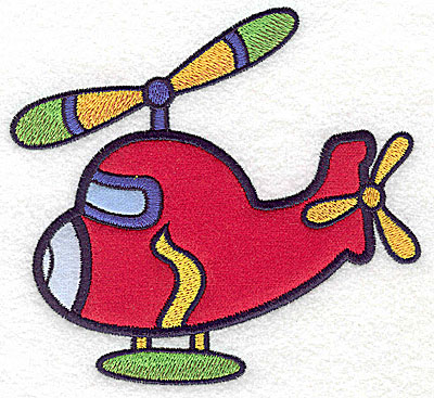 Embroidery Design: Helicopter three appliques 5.32w X 4.92h