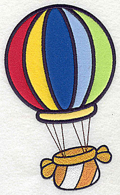 Embroidery Design: Hot air balloon six appliques 6.93w X 4.18h
