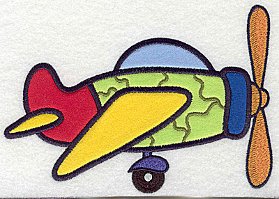 Embroidery Design: War plane five appliques 6.88w X 4.92h