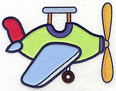 Embroidery Design: Toy airplane three appliques 6.52w X 4.98h