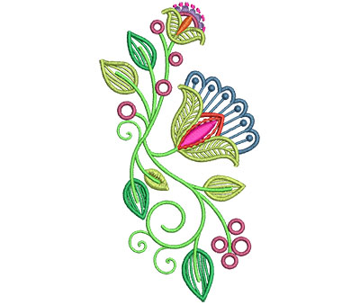 Embroidery Design: Fashionable Flower 3 3.21w X 6.00h