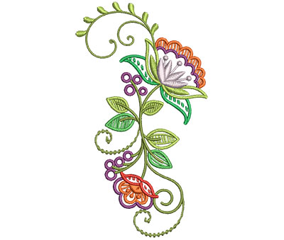 Embroidery Design: Fashionable Flower 7 3.35w X 6.00h