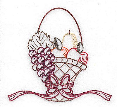 Embroidery Design: Single basket design 3.46w X 3.10h