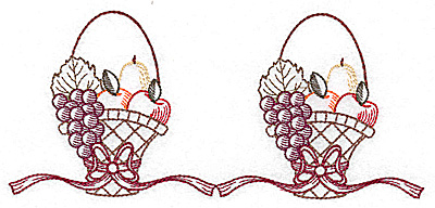 Embroidery Design: Double basket design 6.90w X 3.10h