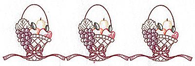 Embroidery Design: Basket of fruit border 10.35w X 3.10h