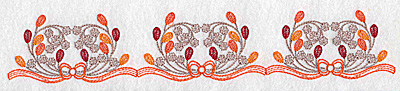 Embroidery Design: Leaf and berry border 10.35w X 1.83h