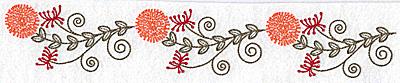 Embroidery Design: Wildflower border 10.36w X 1.76h