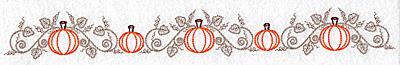 Embroidery Design: Pumpkin and vine border 10.62w X 1.29h