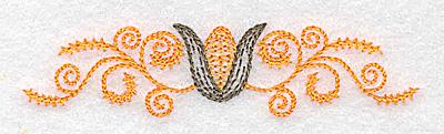 Embroidery Design: Single corn and swirl design 3.45w X 0.81h