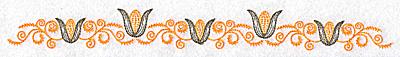 Embroidery Design: Corn and swirl border 10.41w X 1.07h