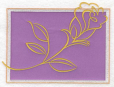 Embroidery Design: Valentine rose applique large 6.53w X 4.92h