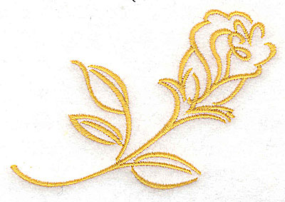 Embroidery Design: Rose 3.86w X 2.58h