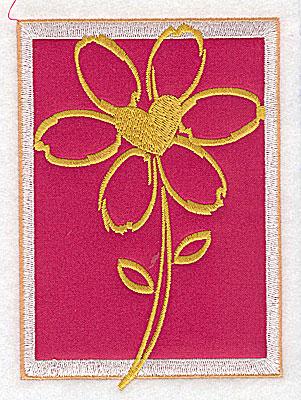 Embroidery Design: Valentine daisy applique large 3.49w X 4.98h