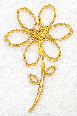 Embroidery Design: Daisy 2.44w X 3.87h