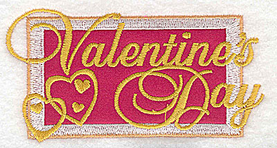 Embroidery Design: Valentine's Day applique small 3.87w X 2.02h