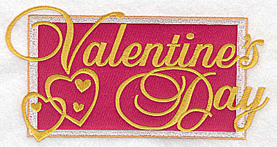 Embroidery Design: Valentine's Day applique large 6.95w X 3.62h